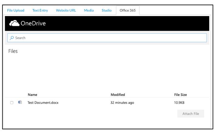 OneDrive Example