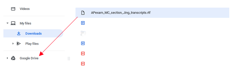 Google Drive Example