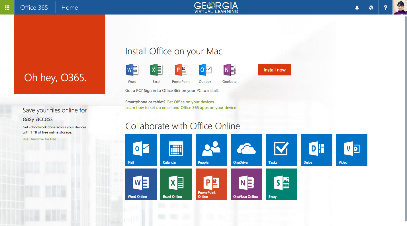 Downloading Office 365 2