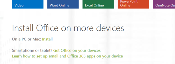 Downloading Office 365 3