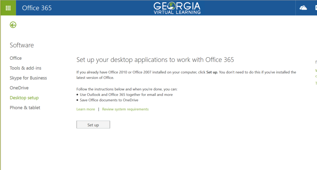 Downloading Office 365 6