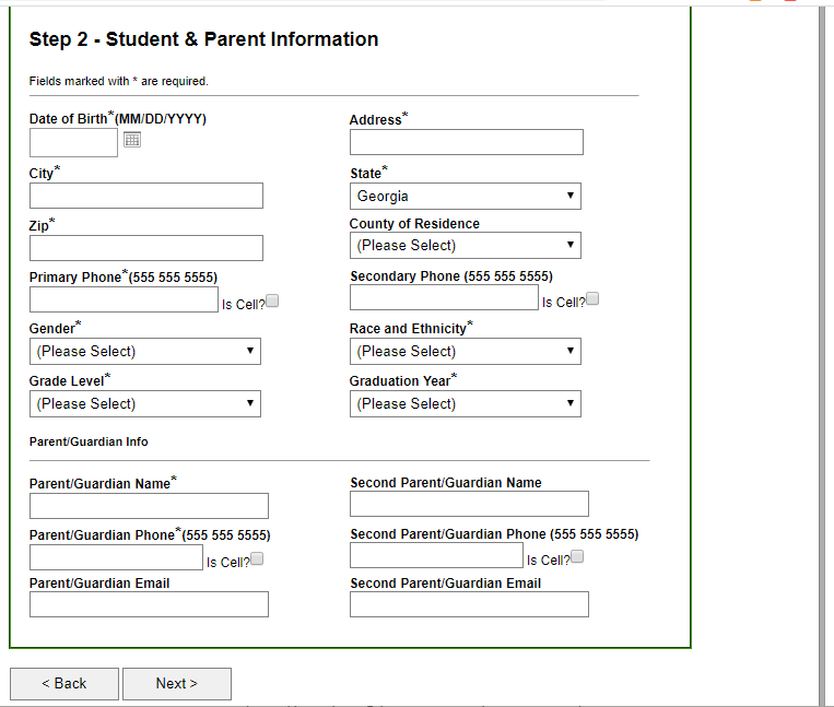 create student account 5